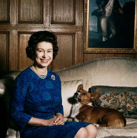 Queen Elizabeth II with one of her corgis