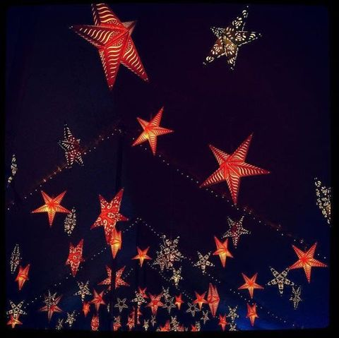 Red, Pattern, Light, Carmine, Star, Christmas decoration, Astronomical object, Christmas, Midnight, Christmas eve,