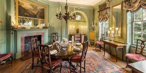 Interior design, Room, Furniture, Ceiling, Table, Chair, Interior design, Floor, Flooring, Molding,