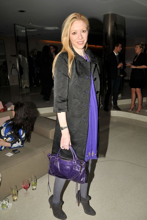 Hair, Textile, Outerwear, Bag, Style, Fashion accessory, Fashion, Luggage and bags, Street fashion, Blond,