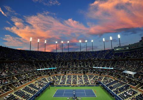Sport venue, Blue, Grass, Crowd, Atmosphere, Stadium, Ball game, Team sport, Sports, Competition event,