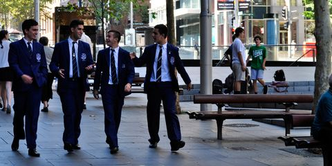 Coat, Trousers, Dress shirt, Shirt, Collar, Outerwear, Suit, Bench, Formal wear, Suit trousers,