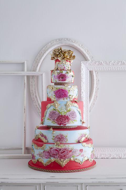 Cake, Dessert, Baked goods, Food, Sweetness, Pink, Ingredient, Cake decorating, Magenta, Serveware,