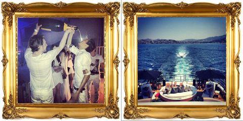 Watercraft, Interior design, Picture frame, Back, Water transportation, Boat,