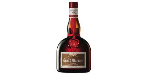 Glass bottle, Bottle, Red, Alcoholic beverage, Alcohol, Drink, Logo, Distilled beverage, Carmine, Black,