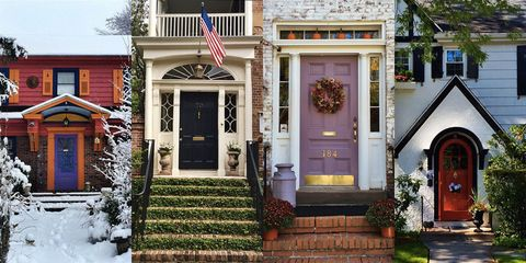 Door, Property, Stairs, Flag, Real estate, Facade, Home door, House, Home, Flag of the united states,