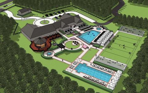 Urban design, Land lot, Plain, Residential area, Suburb, Lawn, Yard, Estate, Landscaping,