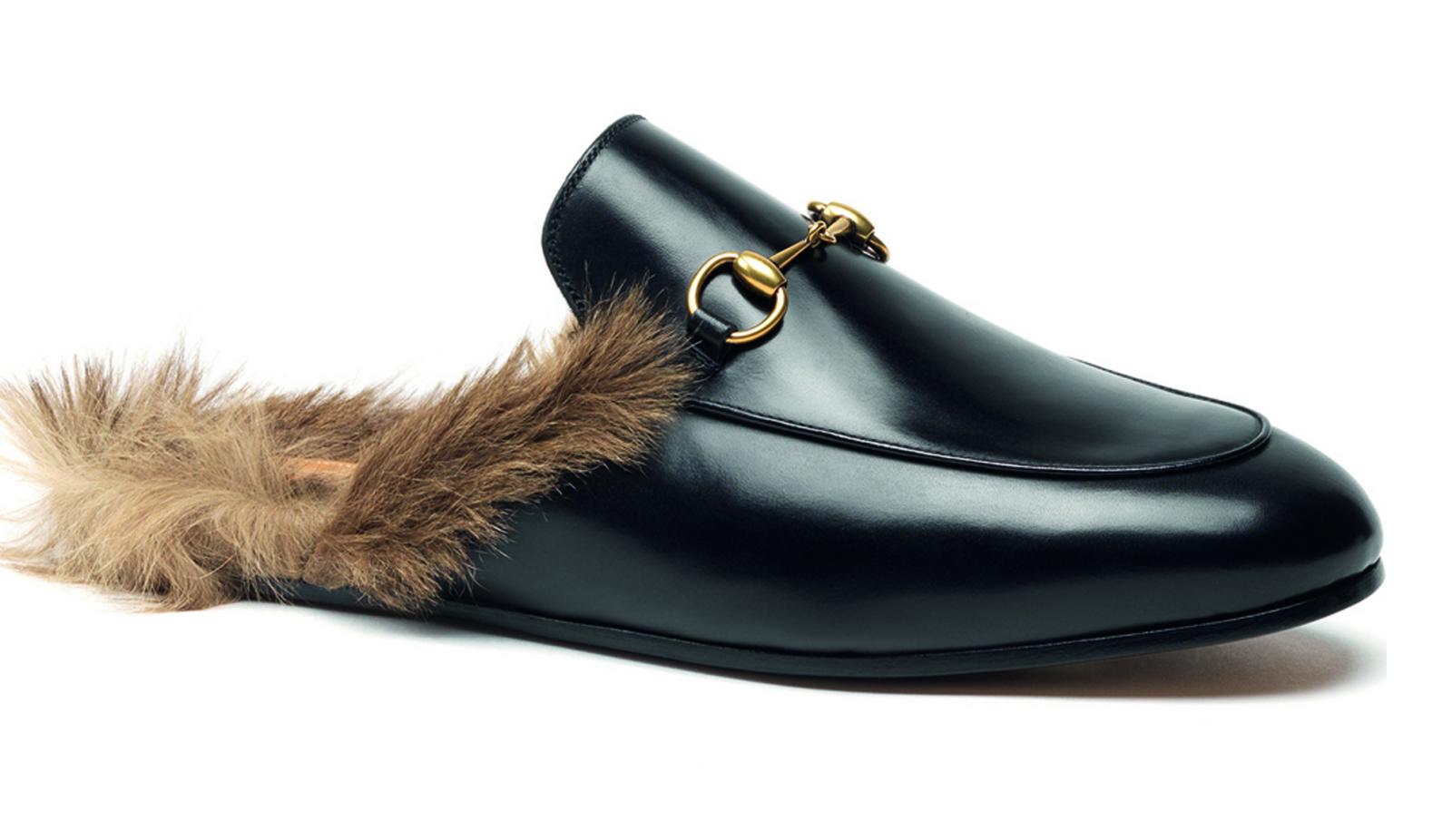 Gucci Kangaroo Fur Shoe - Gucci Fur Slipper