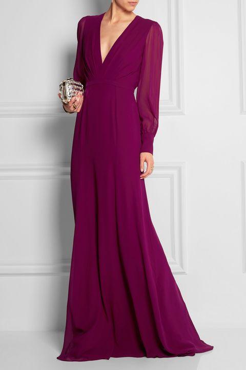 Clothing, Sleeve, Dress, Shoulder, Textile, Joint, Magenta, Formal wear, Pink, Red,