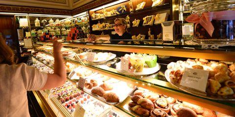 Food, Cuisine, Dish, Retail, Baked goods, Bakery, Dessert, Sweetness, Meal, Ingredient,