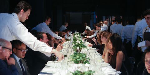 Face, Event, Tablecloth, Table, Function hall, Bouquet, Ceremony, Banquet, Party, Linens,