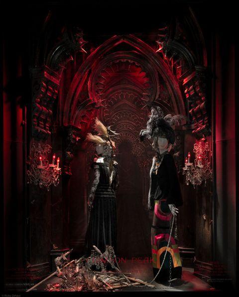 Darkness, Art, Costume design, Costume, Cg artwork, Sculpture, Painting, Gown, Haute couture,