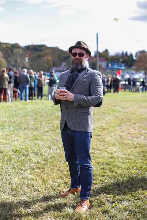 Hat, Jeans, Denim, Goggles, People in nature, Sunglasses, Jacket, Beard, Facial hair, Sun hat,