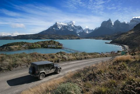 Tire, Automotive tire, Mountainous landforms, Natural landscape, Automotive exterior, Highland, Landscape, Mountain range, Fender, Bank,