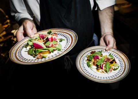 Food, Dishware, Cuisine, Tableware, Salad, Dish, Plate, Culinary art, Recipe, Garnish,