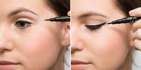 Lip, Cheek, Brown, Skin, Eyelash, Forehead, Eyebrow, Eye shadow, Earrings, Beauty,
