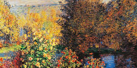 Leaf, Art, Orange, Art paint, Paint, Deciduous, Modern art, Autumn, Visual arts, Painting,