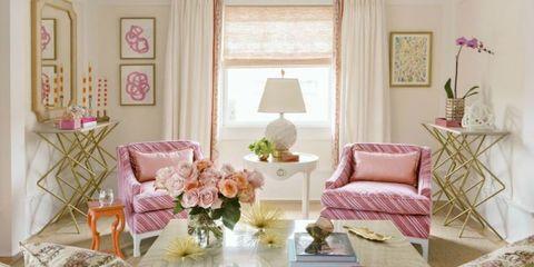 Room, Interior design, Furniture, Home, Pink, Interior design, Peach, Living room, Lamp, House,