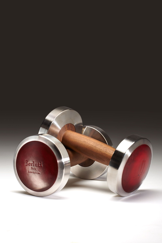 "<p>$1,240, <a href=""http://www.berluti.com/en/collections/accessories/dumbbells/dumbbels-venezia-leather-x0890-26#.VkIMca1g69E"">Berluti</a>.</p>"