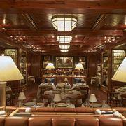 Lighting, Interior design, Brown, Lampshade, Room, Lamp, Ceiling, Lighting accessory, Interior design, Light fixture,