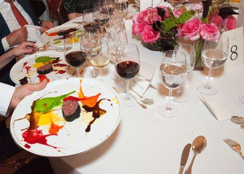 Glass, Dishware, Stemware, Drinkware, Tableware, Furniture, Barware, Food, Champagne stemware, Table,
