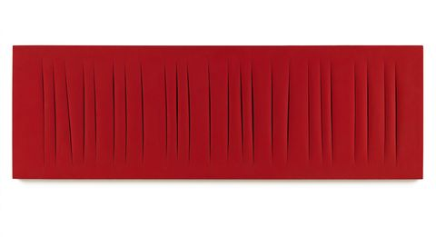 The painting Lucio Fontana made after seeing an Antonioni movie.