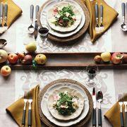 Serveware, Dishware, Tableware, Table, Food, Plate, Cuisine, Porcelain, Meal, Dish,