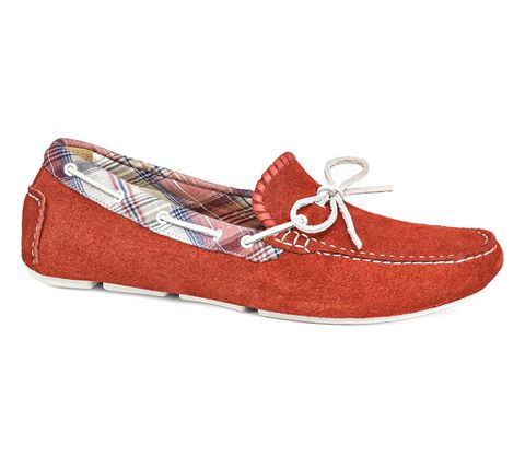Red, Tan, Maroon, Coquelicot, Stitch, Ballet flat, Walking shoe,