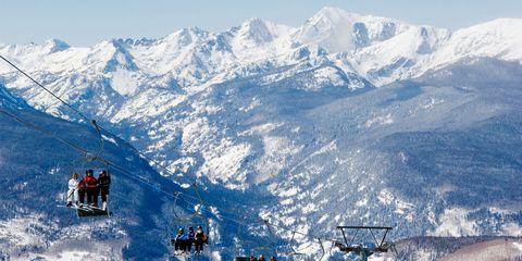 Mountainous landforms, Mountain range, Winter, Slope, Mountain, Hill station, Snow, Cable car, Glacial landform, Summit,
