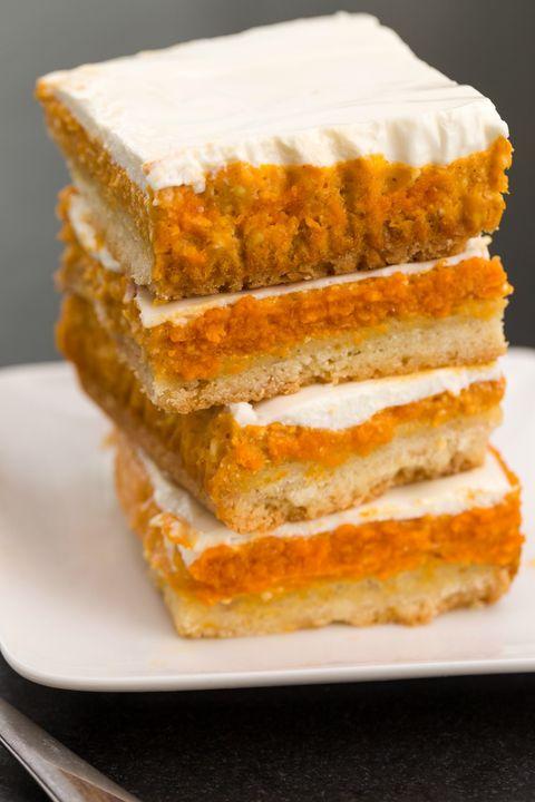 Pumpkin cheesecake layer bars