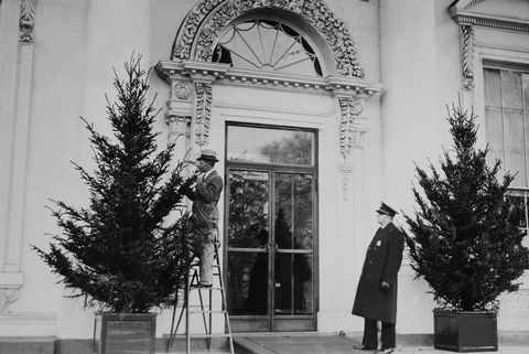 Christmas decorations in the White House on December 18th 1935.