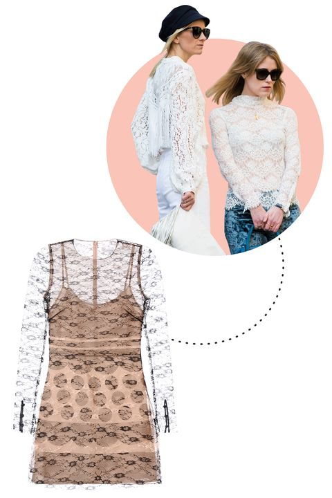 """<p>There's nothing sexier than a hint of lace on a dress or a shirt, which is why it's no surprise that gorgeous Italian women stockpile the style.</p><p>RED Valentino Printed Lace Dress, $995; <a href=""""http://www.redvalentino.com/us/gown_cod34542694jo.html"""">redvalentino.com</a></p>"""
