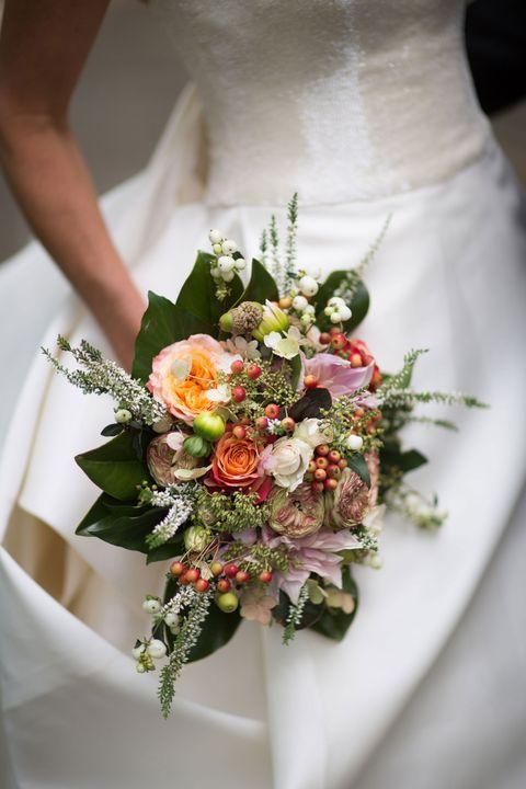 Yellow, Bouquet, Petal, Flower, Dress, White, Cut flowers, Bridal clothing, Floristry, Flower Arranging,