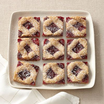 Cherry Linzer Bars