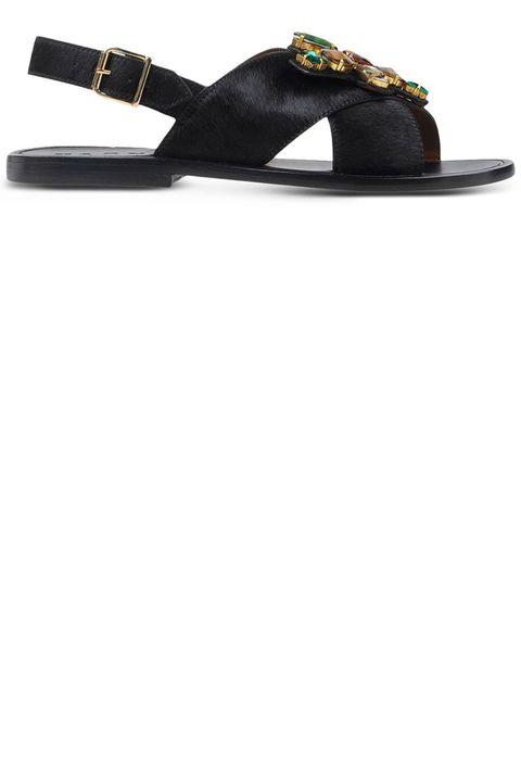 "<p><strong>Marni</strong> sandal, $580, <a href=""https://shop.harpersbazaar.com/designers/m/marni/black-calf-hair-embellished-sandal-5456.html"" target=""_blank""><strong>shopBAZAAR.com</strong></a>.</p>"