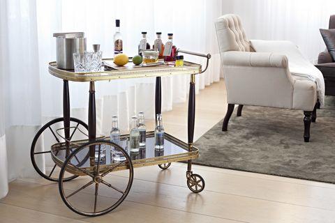 London Edition hotel drink cart