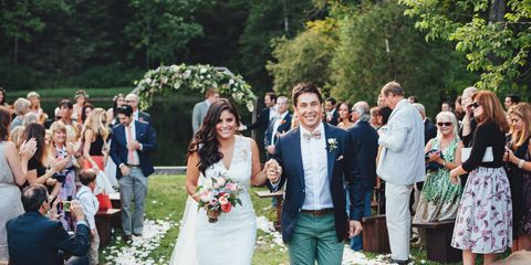 Clothing, Dress, People, Event, Petal, Coat, Trousers, Bridal clothing, Bouquet, Social group,