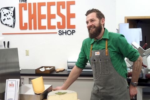 "<p><strong>Street Cred</strong>: Co-owner and monger at <a href=""http://www.cheeseshopbreck.com"">The Cheese Shop of Breckenridge</a> in Breckenridge, CO<br></p><p>""My favorite cheese at the moment is Oma from <a href=""http://www.vontrappfarmstead.com/our-cheese/"">von Trapp Farmstead Cheese</a> (as in the von Trapp's from ""The Sound of Music"") and aged at the Cellars at Jasper Hill. Oma is a washed-rind, semi-soft cheese made with organic unpasteurized cow's milk and aged about 70 days. The cheese is beefy, woodsy and a little funky-barnyardy. I'd pair it with something assertive like an IPA or Mourvedre-based wine like those found in Bandol.""</p><p><em>You can find Brooks and his favorite cheeses <a href=""http://www.cheeseshopbreck.com"">here</a>.</em></p>"
