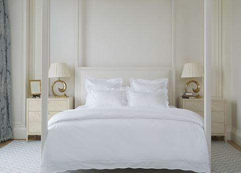 Bed, Room, Floor, Wood, Interior design, Property, Bedding, Textile, Bedroom, Wall,