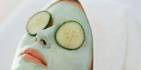 Girl With At Home Beauty Mask