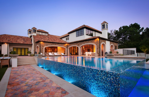 Swimming pool, Property, Real estate, Resort, Home, House, Villa, Residential area, Tile, Estate,
