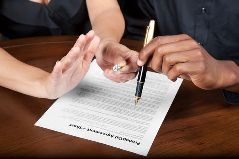 prenuptial agreement divorce