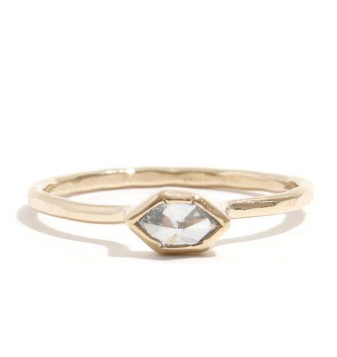 melissa joy manning clear white diamond ring