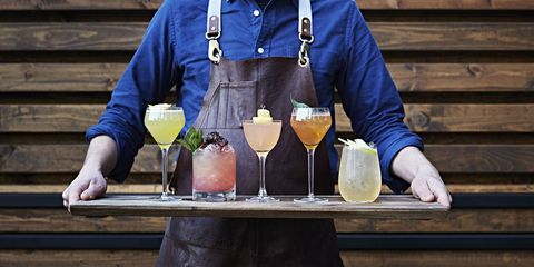 Drink, Tableware, Serveware, Hat, Cocktail, Barware, Alcoholic beverage, Plate, Alcohol, Distilled beverage,