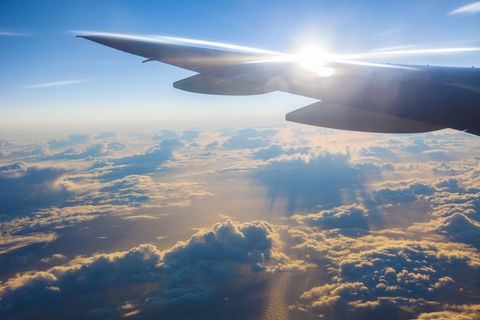 Sky, Daytime, Cloud, Atmosphere, Aircraft, Aviation, Air travel, Flight, Airplane, Wing,