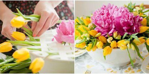 Petal, Yellow, Flower, Pink, Bouquet, Floristry, Flowering plant, Cut flowers, Flower Arranging, Floral design,