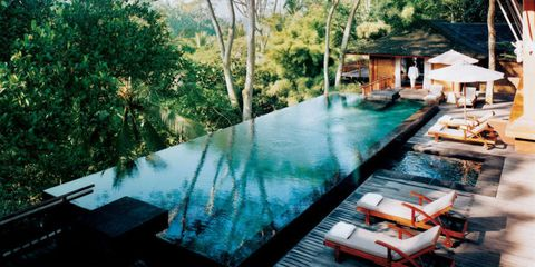 Property, Swimming pool, Resort, Reflection, House, Composite material, Shade, Village, Cottage, Eco hotel,