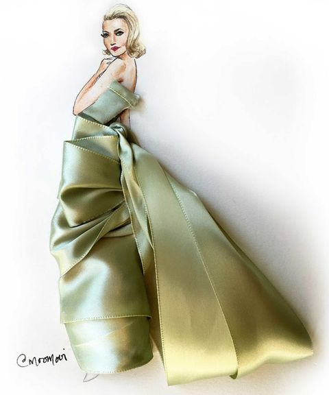 Shoulder, Joint, Style, Formal wear, Gown, Dress, Fashion illustration, Satin, Costume design, Fashion,