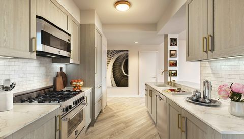 Room, Property, Interior design, Plumbing fixture, Floor, Kitchen, White, Major appliance, Ceiling, Home appliance,