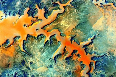 Orange, Colorfulness, Liquid, Geological phenomenon, World, Science,